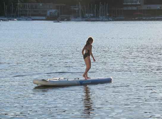 Verča a padelboard
