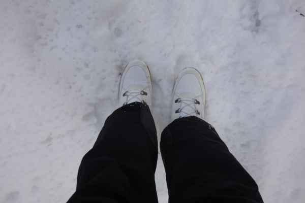 Nové boty sněhový test vydržely.