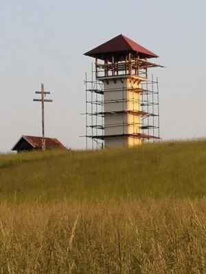 08.jún Miroslav Jureňa - Priatelia! Dnes boli dokončené práce na zastrešení Rozhľadňe Mojmírova bašta
