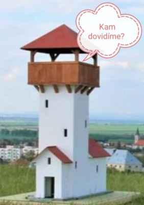 Miroslav Jureňa 12.júl. - A takto by ta rozhľadňa mala vyzerať. Potom si budu môcť na seba mávať starosta obce Gbely s primátorom mesta Holíč.