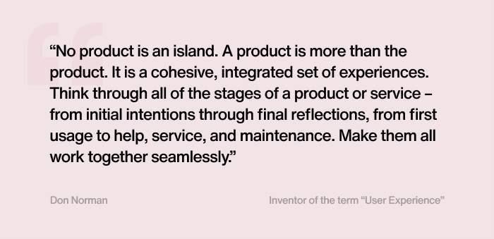 Definice User experience designu dle D. Normana, jeho zakladatele. Zdroj: Tereza Švecová