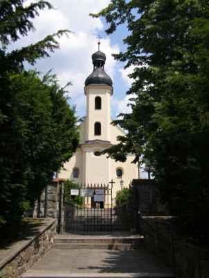 07 - Hlučín - kostel sv. Markéty 10 - schodiště ke kostelu