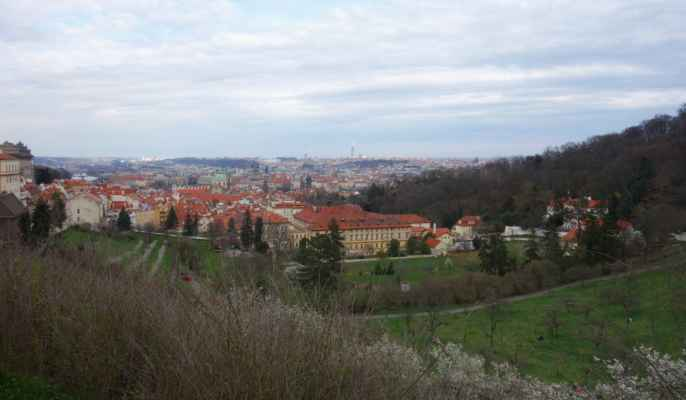 Cestou zpět jsem se ještě chvilku kochala výhledy na Prahu.
