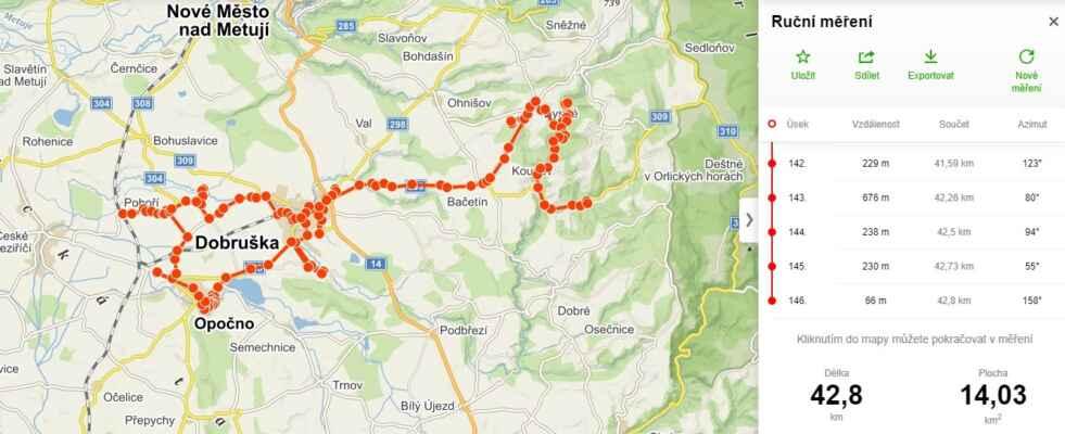 DOBRUŠKA 24.7.2021 - https://mapy.cz/s/padunofube